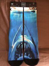 Great White Shark JAWS Movie Odd Sox Spielberg Benchley Knit Socks sz 6-13