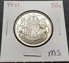 1941 Canada Silver 50 Cent Half Dollar ***MS Condition*** Great Detail