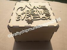 Nan Vigilia di Natale Scatola 150x150x100 mm MDF può essere personalizzato topper incluso