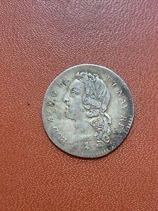 1/5 Ecu au bandeau Louis XV 1759 A argent.