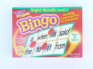 TREND Sight Words Level 1 Bingo-Building Vocabulary Age 5+