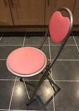 Girl's Pink Heart Folding Chair