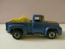 Hot Wheels - 1973 Blue Pickup Truck with 2 Motorcycles - Loose - Some Wear
