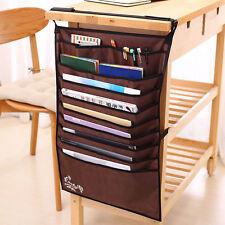 Adjustable Useful Desk Books Organizer Bag Hanging Holder Books File Storage Bag