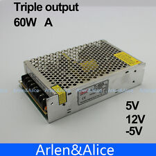 60W A Triple output 5V 12V -5V Switching power supply smps AC to DC