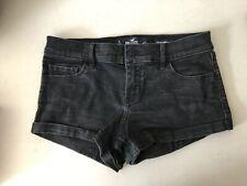 Holister Shorts women denim Black Short Short  low rise  5 27