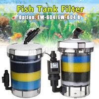 Mini Clear Pre-Filter Aquarium Fish Tank Salt Water Filter External Canister