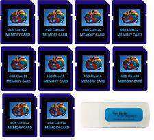 4GB 4 GB c10 SD Flash Memory Cards 10 pack for Digital Cameras/Trail Camera Bulk