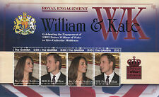 Gambia 2011 Royal Engagement 4v M/S I Prince William Kate Middleton