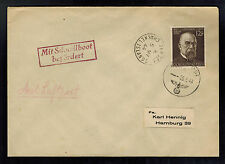 1944 Occupied Jersey Channel Island airmail Feldpost Cover to Germany via E Boat