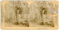 Stereo, Littleton View Co. Publishers, Love on a Tub Vintage stereo card - T