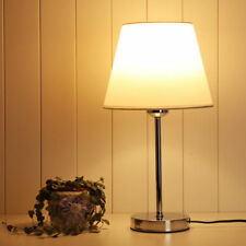 E27 Tischleuchte Stoffschirm Nachttischleuchte Schreibtischlampe Nachttischlampe