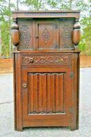 Oak COURT-CUPBOARD Jacobean Tudor Cabinet ~ Old Charm