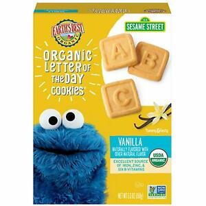 Earth's Best Organic Sesame Street Toddler Letter of the Day Cookies, Vanilla