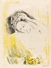 Odilon Rendon Reproduktionen: La sulamite (die Shulamite) - Fine Art Print