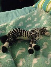 "13"" Poseable Zebra Zoo Souviner Plush Stuffed Animal"