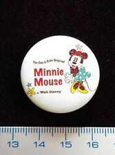 Disney Pin badge MINNIE MOUSE. The One & Only Original.SCARCE Metal button.