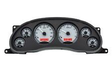 1994-2004 Mustang GT Cobra Silver Alloy & Red Dakota Digital VHX Gauge Kit