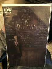 October Faction #1 IDW 2014 Retailer Sub Cover Variant New Netflix Show NM niles