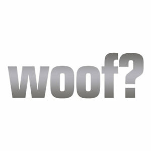 Woof - Vinyl Decal Sticker - Multiple Color & Sizes - ebn1584