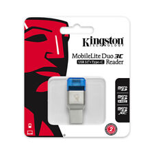 Kingston MobileLite Duo 3C MicroSD Card Reader OTG USB3.1-A/C Type-C