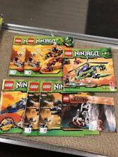 Lot Set of (6)  Lego Ninjago ~INSTRUCTION BOOKS ONLY~  9442 ,9444,9443,9448,
