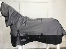 AXIOM 1800D BALLISTIC GREY/ BLACK  PADDOCK 300g HORSE COMBO RUG - 6' 3