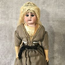 "14-1/2"" Bahr & Proschild Mold # 309.4 Dome Shoulder Head Doll With Wooden Clogs"
