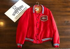 Vintage Montreal Canadiens By Shain of Canada Mens Satin Jacket NHL Hockey Coat