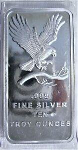 10 oz SilverTowne Eagle Silver Bar .999 Sealed