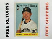 2019 Topps Archives RC Card #53 Keston Hiura Milwaukee Brewers MLB