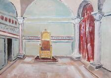 Vintage gouache painting theatre stage design