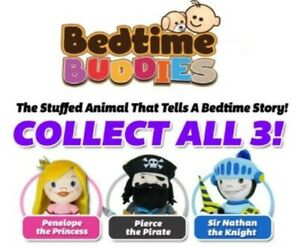 Bedtime Buddies Plush Toy That Tells Bedtimes Stories! Collect All 3 and Save