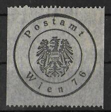 AUSTRIA 1876 Unused No Gum Postamp Wien Local Unchecked