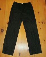 Talbots Womens Dress Pants Black Linen Rayon Blend Lined Career Trousers 10 Long