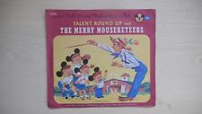 Mickey Mouse Club ORANGE Record TALENT ROUND UP/THE MERRY MOUSEKETEERS 78rpm 50s