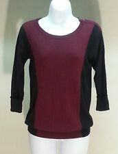 NWT $68 Joseph A. Black Red Short Sleeve Scoop Neck Pullover Sweater Size: PP