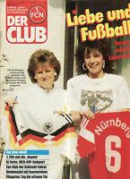 BL 87/88 1. FC Nürnberg - DER CLUB - Heft 5/1988