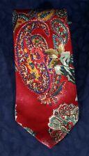 """Handsome Red Paisley ALBERT NIPON Neiman Marcus Silk Tie 4 1/8"""" x 58"""""""