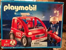 Vintage Playmobil Fire Chiefs Car 3177 Retired NISB RARE 2001