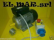 BETONIERA MONOFASE motore elettrico HP 1,5 + puleggia + interruttore salvamotore