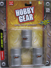 17013 Hobby Gear 1/24 50 Gallon Drum Set Great For Dioramas & G Scale Trains