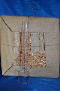 14 '''  Kosmos Glas Zylinder Cylinder 53 mm Glas PETROLEUM LAMPE Oil Lamp