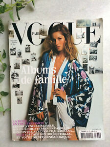 VOGUE Paris 833 décembre 2002 janvier 2003 magazine Gisèle Bundchen cover revue