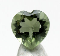 RARE Moldavite Faceted Heart HIGH GRADE Gemstone Meteorite Tektite AUTHENTIC