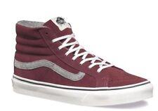 e63e627e4cf007 VANS Sk8 Hi Slim (Vintage Suede) Red Mahogany Skate Shoes Womens Size 5