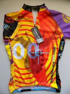 NEW Mt Borah HUCKLEBERRY 100 Women Club Cycling Jersey Size Large HUNTER GRAPHIC