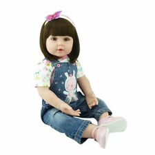 22'' Reborn Silicone Doll Handmade Lifelike Girl Baby Dolls Toddler Kids Toy New