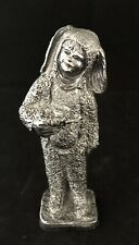 Michael Ricker Pewter Metal Calvin Boy Rabbit Bunny Costume Dated 2002 No. 19635