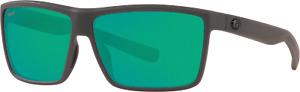 New Costa Del Mar Rinconcito  Sunglasses Matte Gray Green Mirror 580P